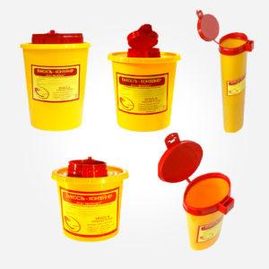 Емкости-контейнеры для сбора, хранения и утилизации внутрибольничных отходов